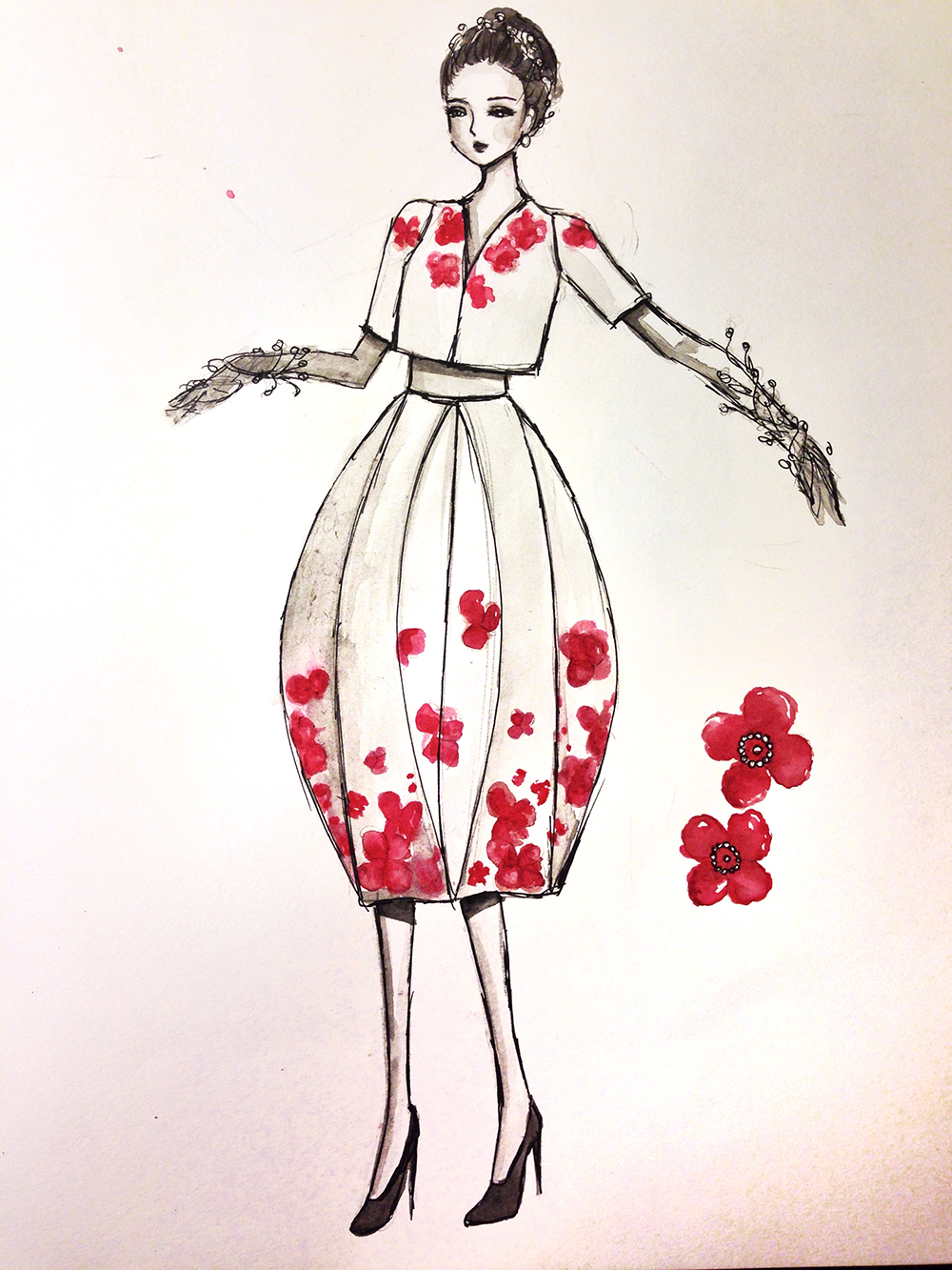 sketch small