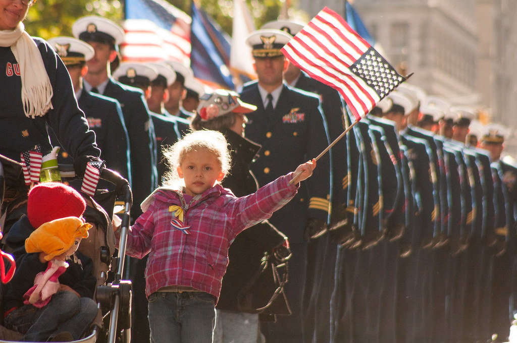 US Coast Guard families and service members march in New Y ...