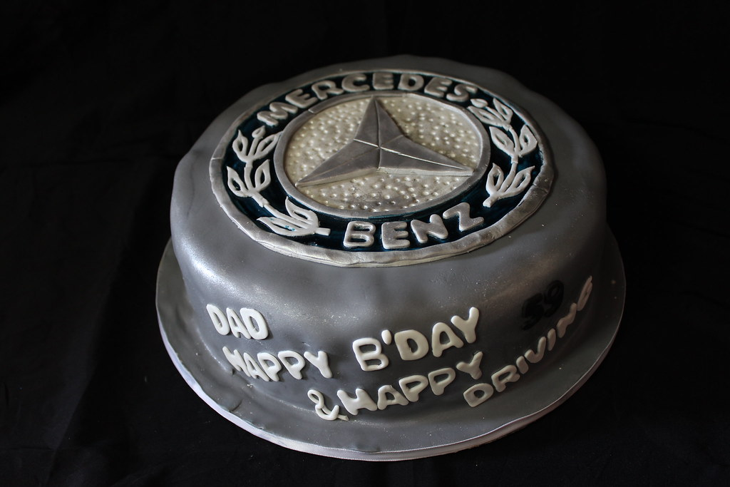 Mercedes Logo Birthday Cake For My Dad