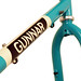 "Downtube detail of Turquoise with ""Panda"" Panels on a Grand Disc"