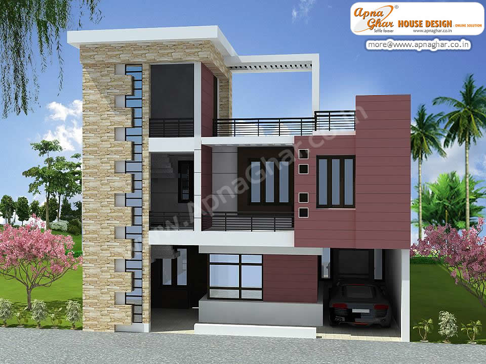 Duplex House Design 3 Bedrooms Duplex House Design In