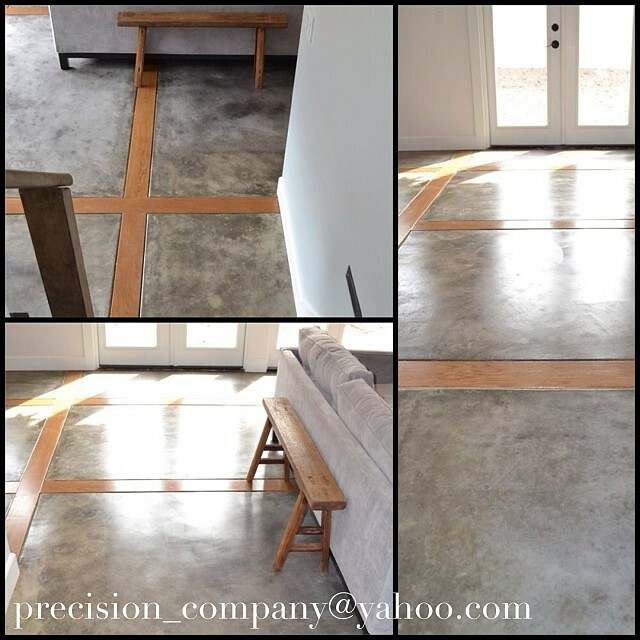 Home Addition Custom Polished Concrete Flooring With Woo