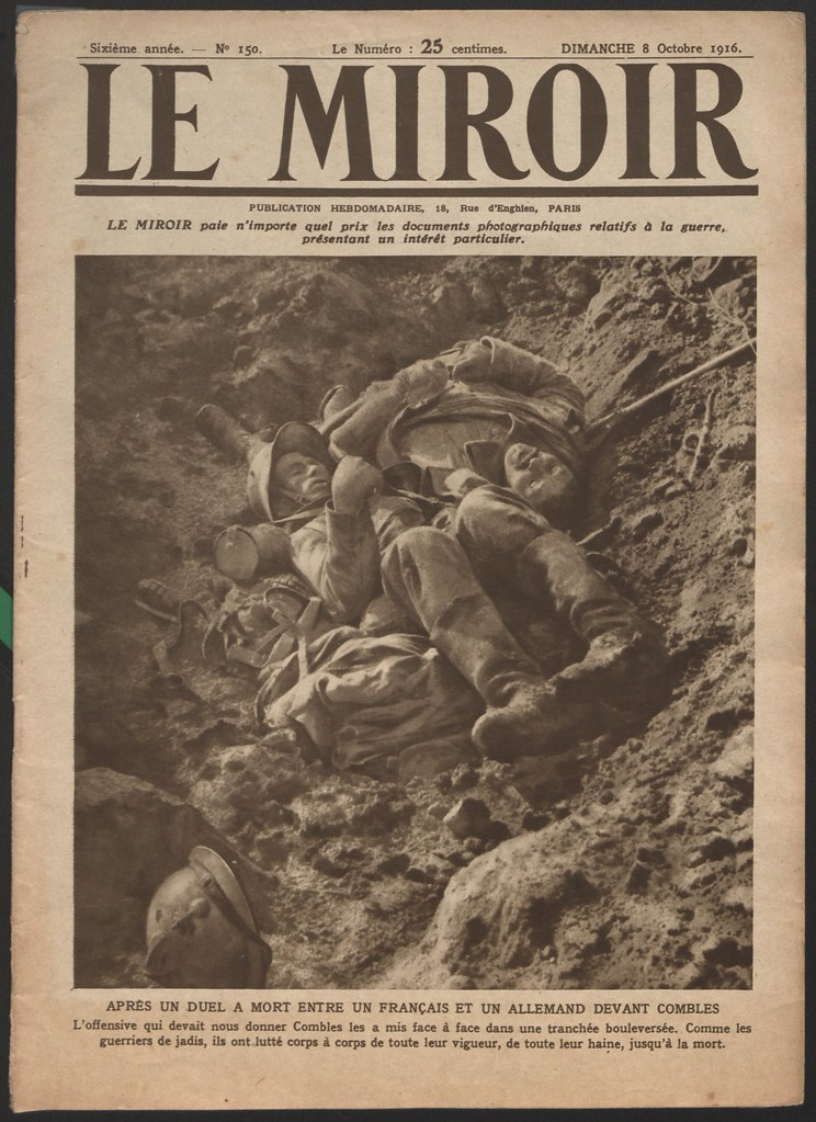 Le miroir 8 octobre 1916 note couverture de l for Miroir in english