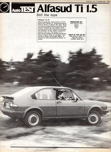 alfa romeo alfasud 1 5 ti road test 1980 1 flickr. Black Bedroom Furniture Sets. Home Design Ideas
