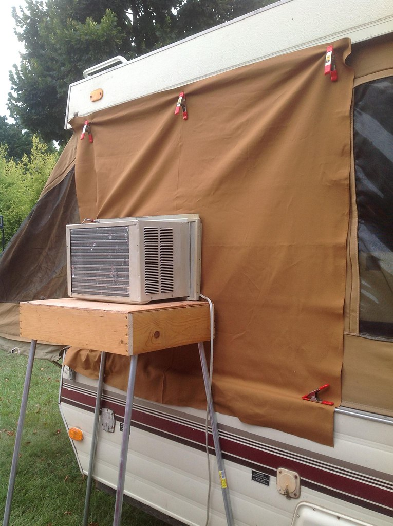 Air Conditioner install in our popup camper | My non ...