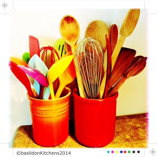 7/2/2014 - utensil {I love utensils & I have lots!  I also like all the bright coolers!} #fmsphotoaday #utensil #colourful #kitchen #cooking