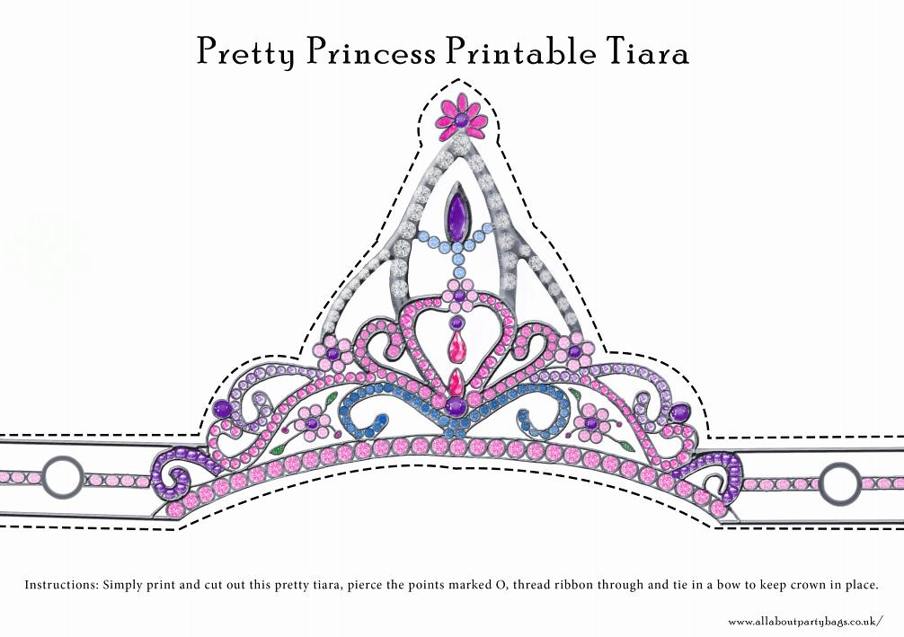 Remarkable image in printable tiara