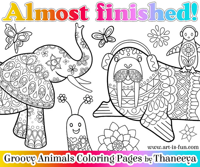 Groovy Animals Coloring Pages : Groovy animals coloring pages groovygirls
