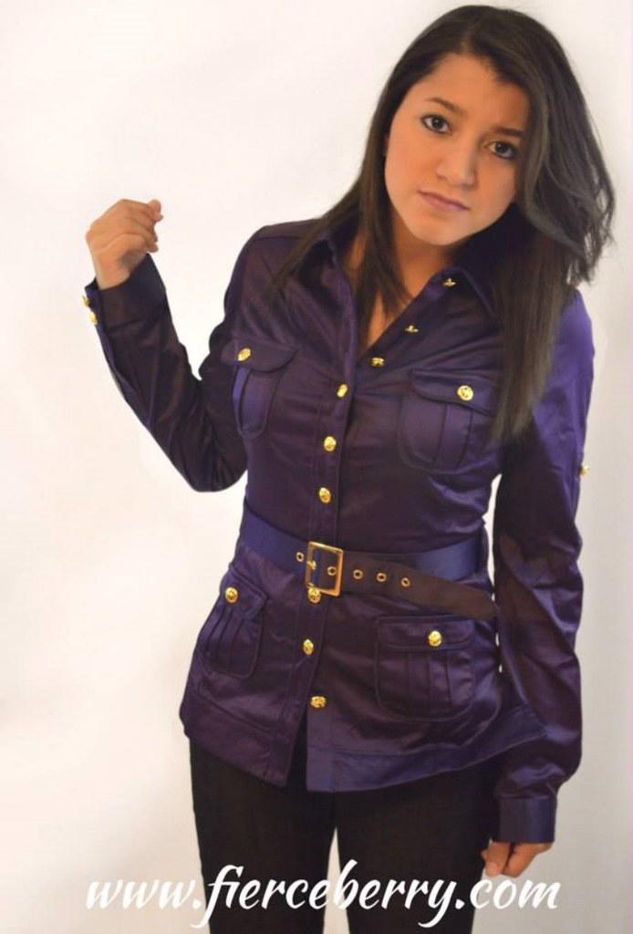 Fierce berry fashion purple jacket