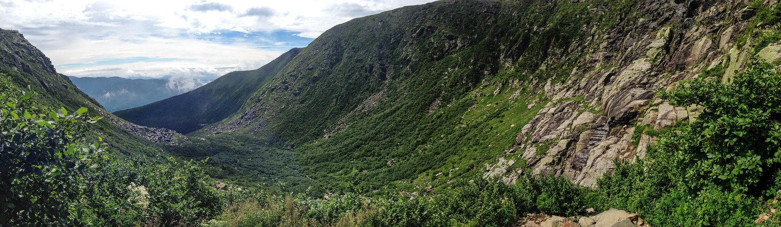 view back from Tuckerman's headwall