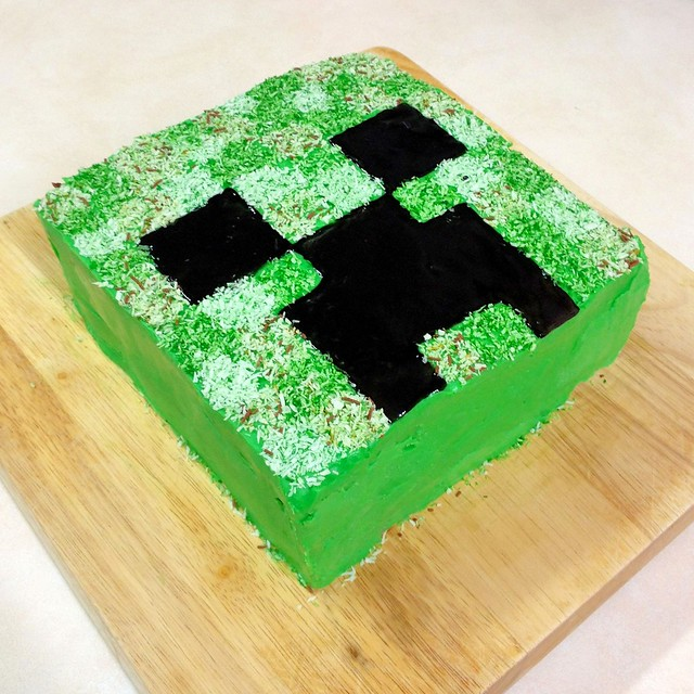 Minecraft Creeper Cake Flickr - Photo Sharing!