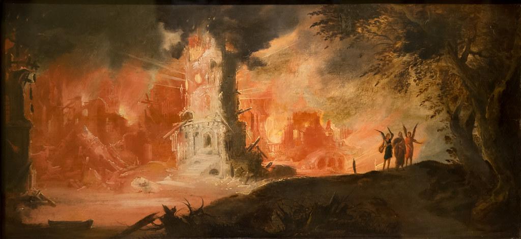 """""""The Destruction of Sodom and Gomorrah"""" by François de Nom ..."""