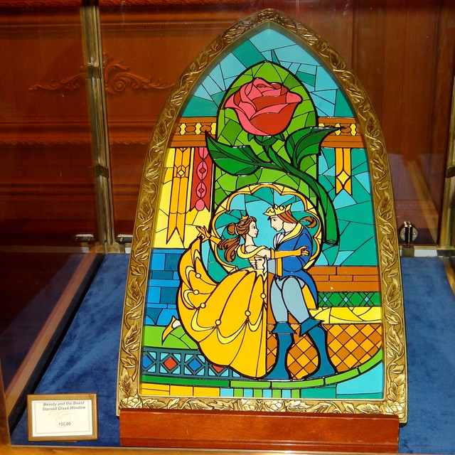 Beauty And The Beast Stained Glass Window