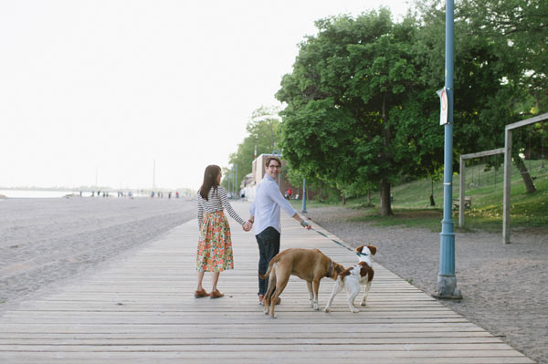 Celine Kim Photography Kew Beaches Toronto engagement session with dog-16