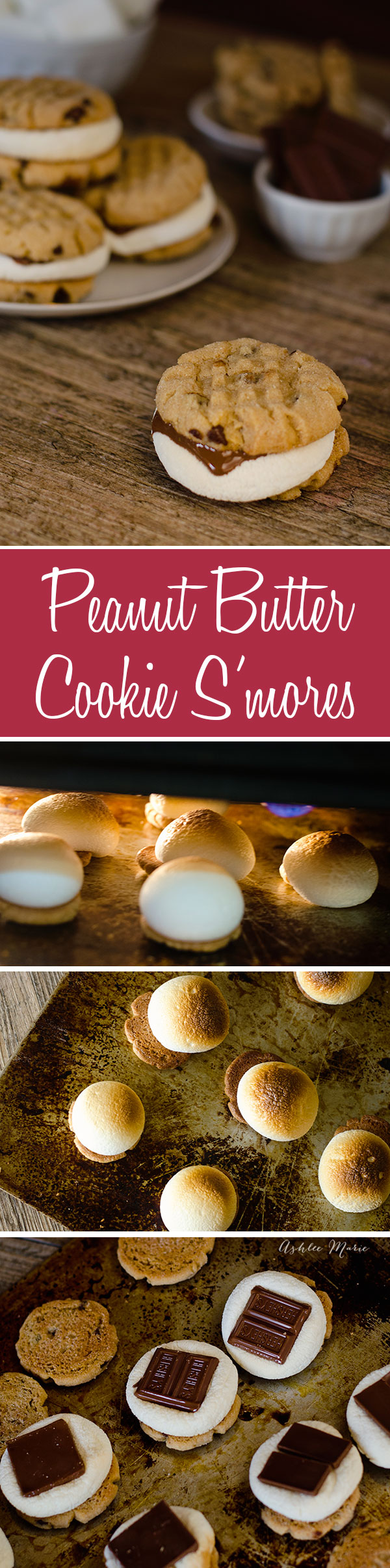 oven baked peanut butter cookie Smores. Easy to make and they taste amazing, One of our favorite summer treats