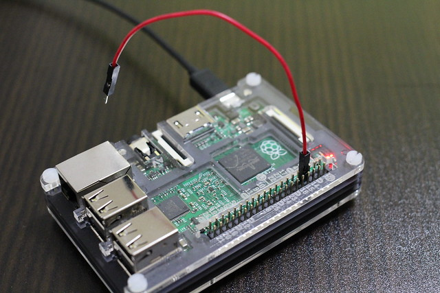 Raspberry Pi 2 with jumper wire