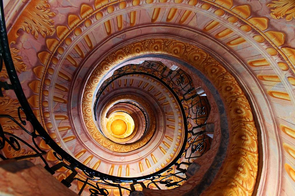 Spiral Staircase Melk Abbey Church Jakob Prandtauer Et