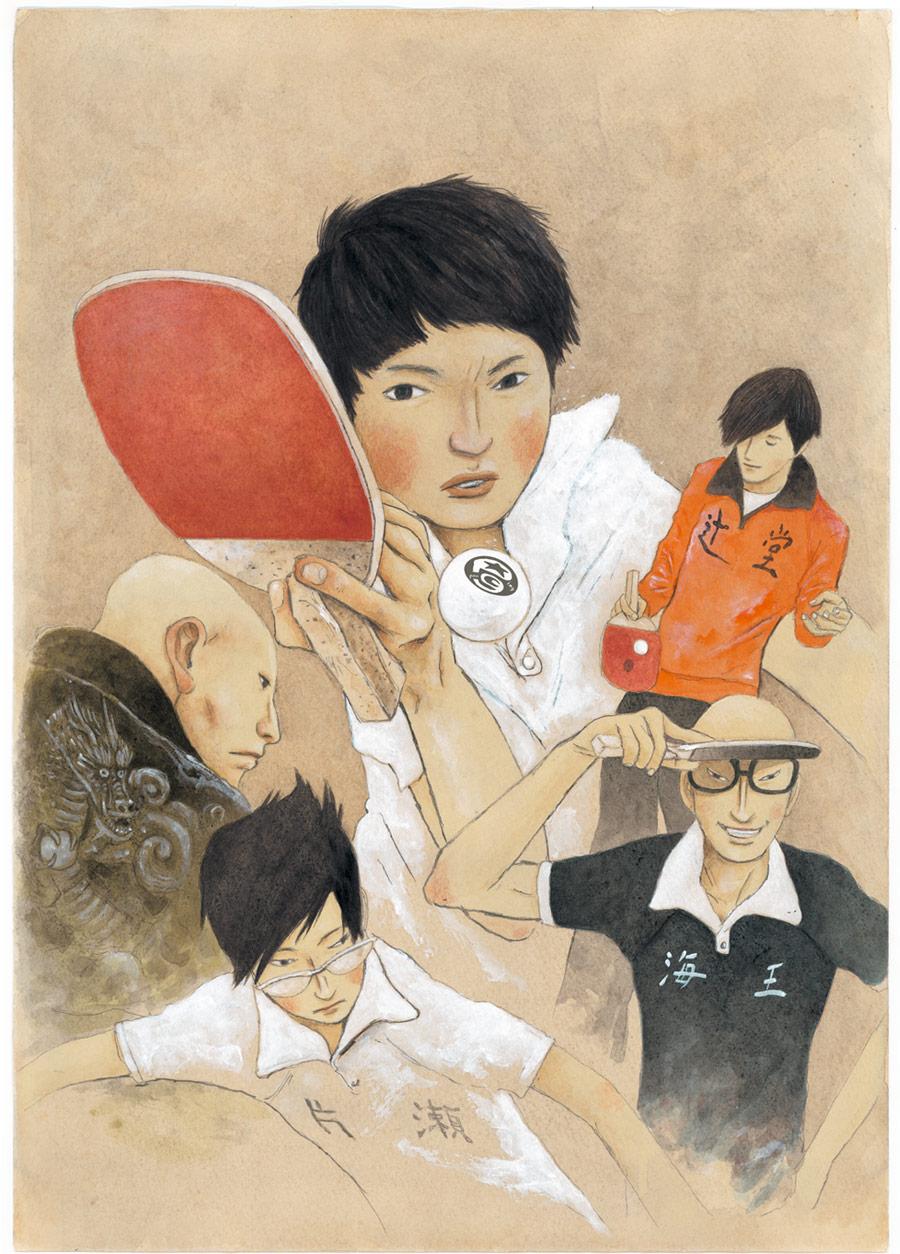140117(3) - 真人電影之後睽違12年!漫畫家「松本大洋」青春熱血作《乒乓》將在4月放送電視動畫版、預告出爐!