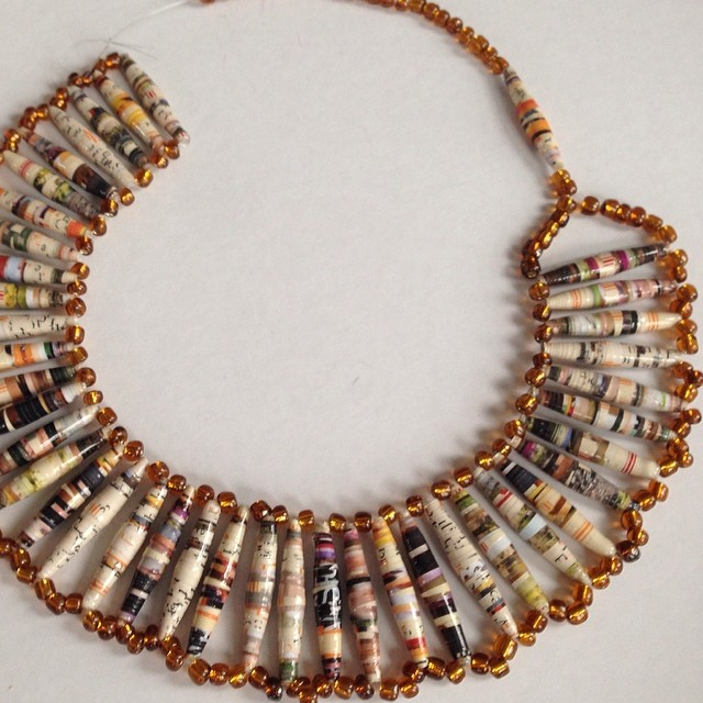 All sizes almost done necklace pieces made with for Waste material handmade craft