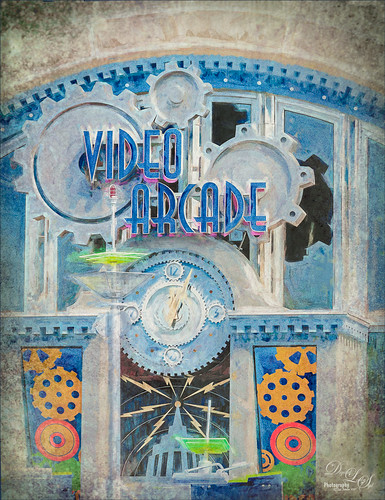 Image of the Video Arcade Sign at the Magic Kingdom