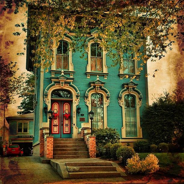 A Quaint, Victorian House In Grand Haven, Michigan.