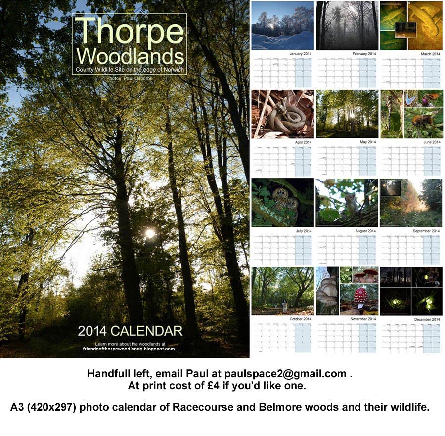 Calendar Woodlands : Thorpe woodlands calendar handfull left email paul