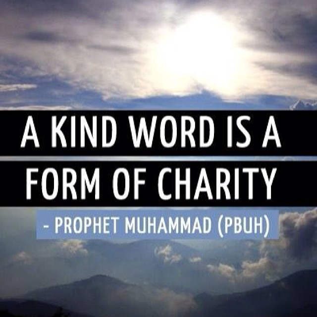 A Kind Word Is Form Of Charity