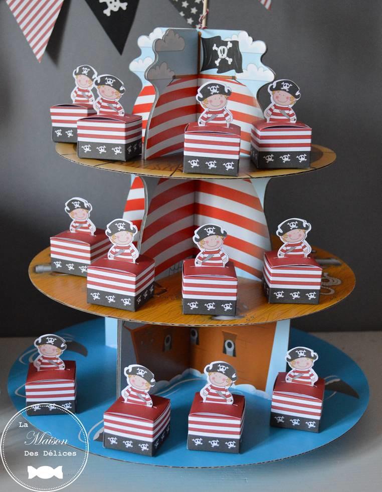 Ballotin dragees theme corsaire pirate ptit moussaillon bo flickr - Decoration bapteme theme pirate ...