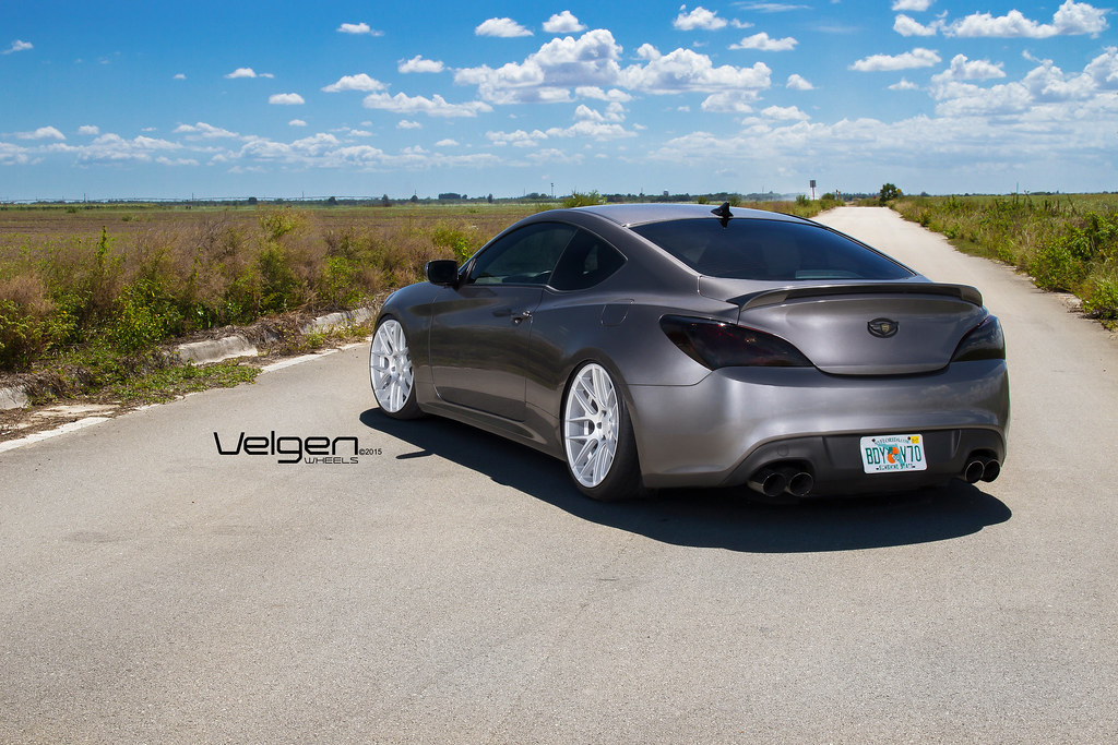 Hyundai Genesis Coupe On Velgen Wheels Vmb7 Matte Silver 2