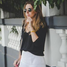 falda blanca Zara