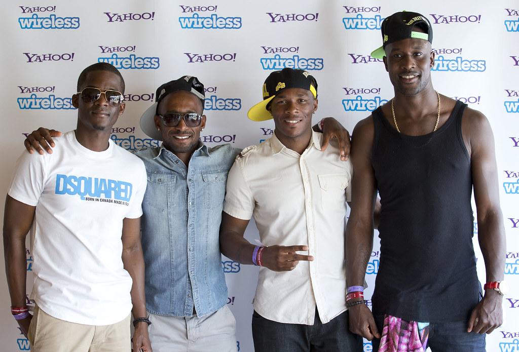 Photo of Jermain Defoe & his friend  Carlton Cole  - Yahoo! Wireless Festival
