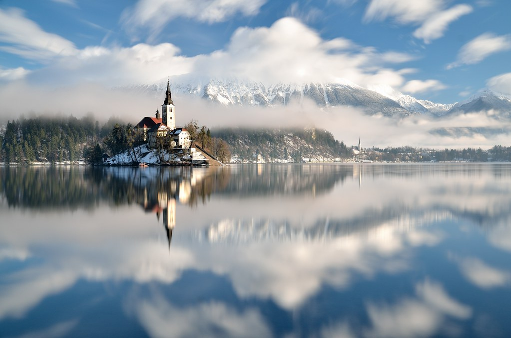 Reflex In Bled Lake Slovenia Nd 128 Filter Tripod N