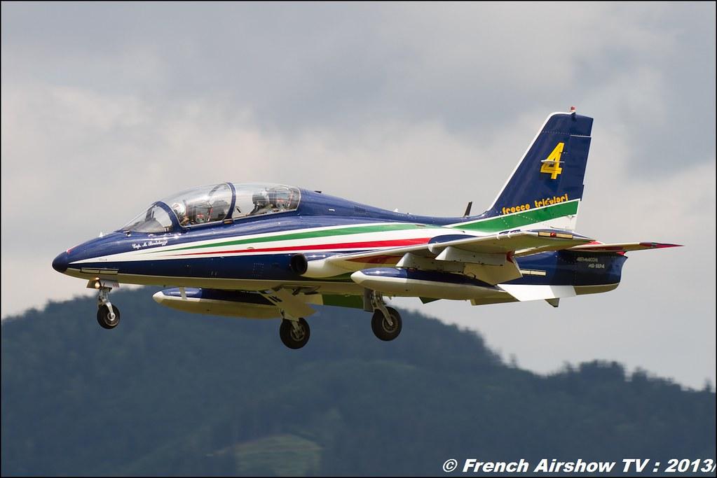 Frecce Tricolori , patrouille acrobatique officielle de l'armée de l'air italienne ,Pattuglia Acrobatica Nazionale (PAN) Frecce Tricolori ,AIRPOWER13 , Zeltweg , Austria , airpower 2013 Zeltweg