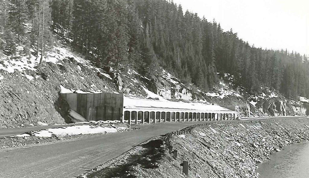 Snowshed construction in 1950 snowshed construction in for I 90 construction