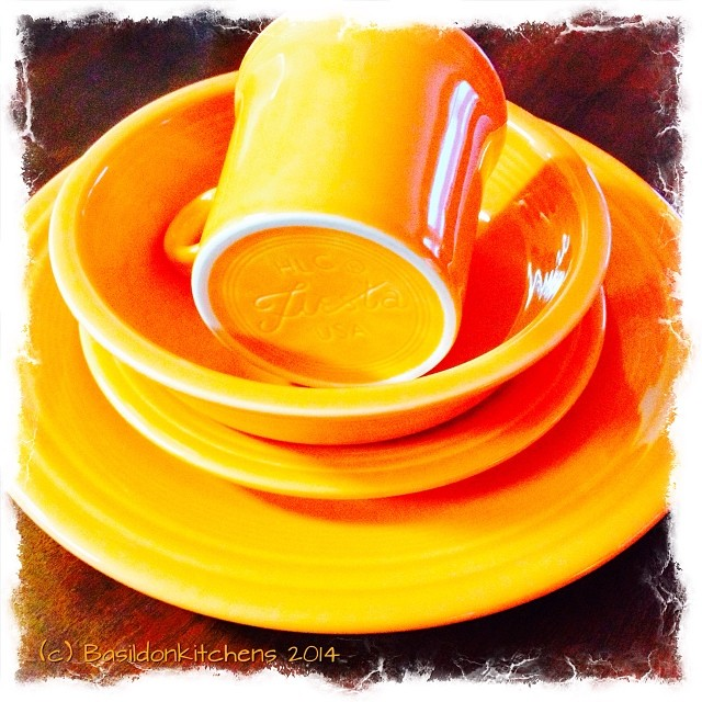 4/2/2014 - orange {some of my favourite Fiestaware} #photoaday #fiestaware #orange #dishes