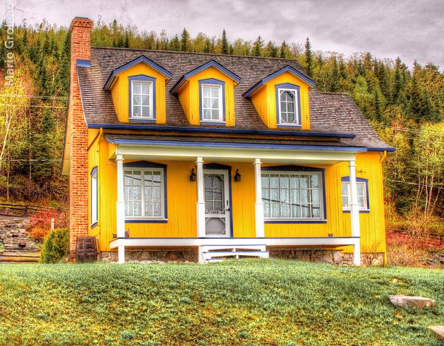 maison jaune port au persil charlevoix qc flickr. Black Bedroom Furniture Sets. Home Design Ideas