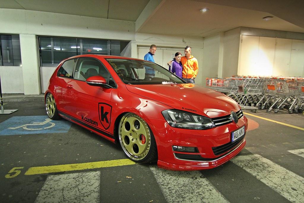 k custom golf 7 vii red rot airride r8 bremsen brakes flickr. Black Bedroom Furniture Sets. Home Design Ideas