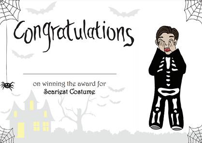 Halloween Achievement Certificate (Best Dressed Boy) | Flickr