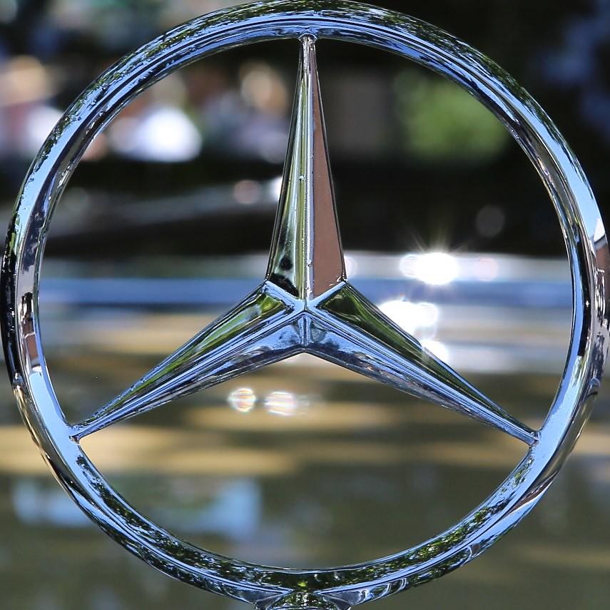 1955 mercedes benz 300sl hood ornament keels wheels for Mercedes benz ornaments