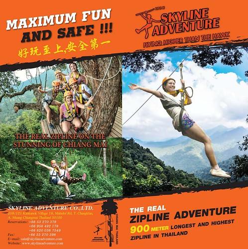 Brochure Zipline Skyline Adventure Chiang Mai Thailand 1