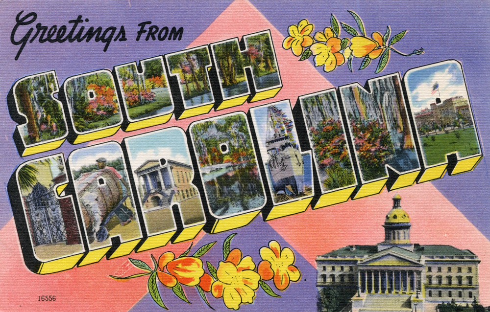 letter a forms greetings from south carolina large letter postcard flickr 16556 | 8877347706 7c88b62517 b