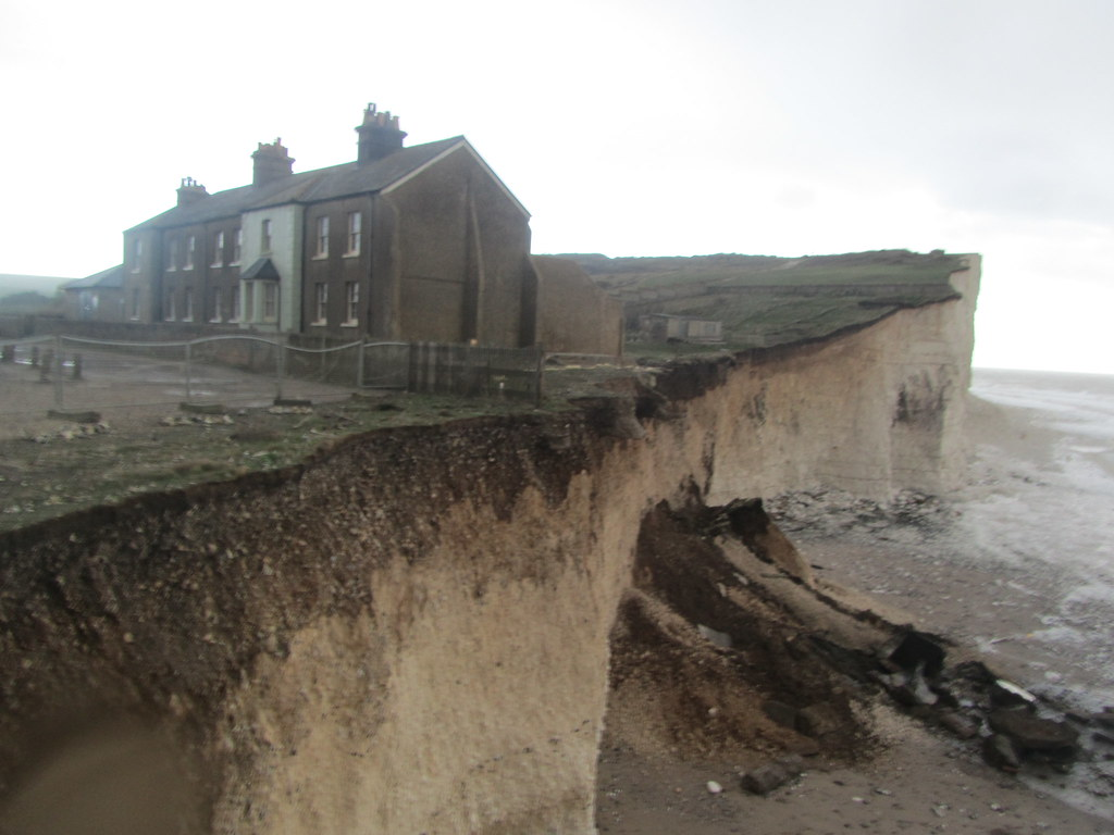 East Sussex Birling Gap Cliff Collapse Houses