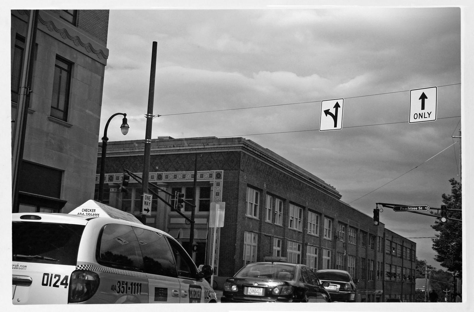 Midtown Atlanta, Checker Cab at Peachtree, 2013