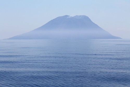 View of the Stromboli in the Tyrrhenian Sea