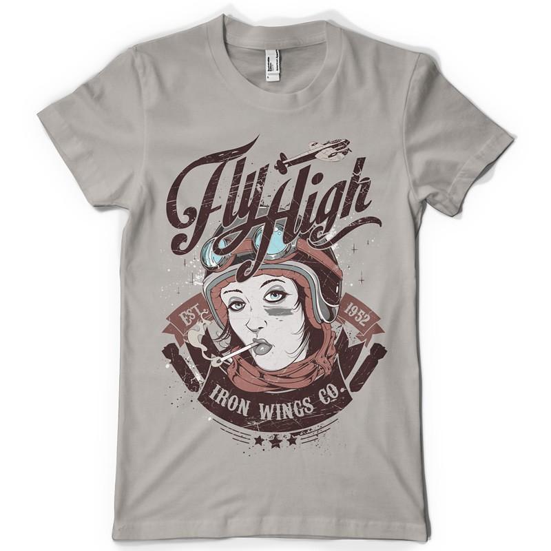 T shirt design 1279 iron wings for T shirt designs erstellen