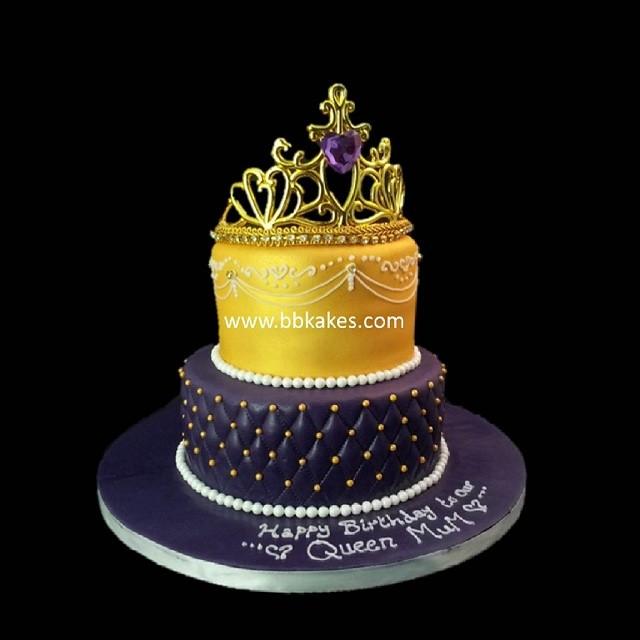 Two Tier Queen Theme Cake By Bbkakes #cake #bbkakes #queen