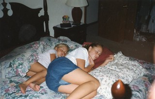 Nap time for Britt & Carissa