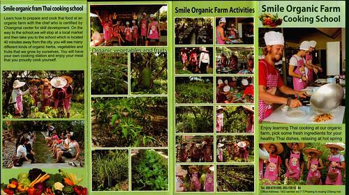 Brochure Smile Organic Farm Cooking School Chiang Mai Thailand 1