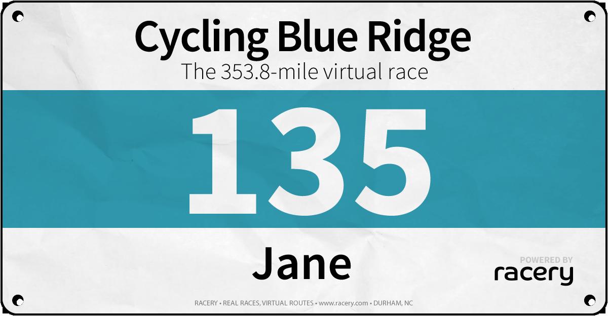 Jane Race Bib