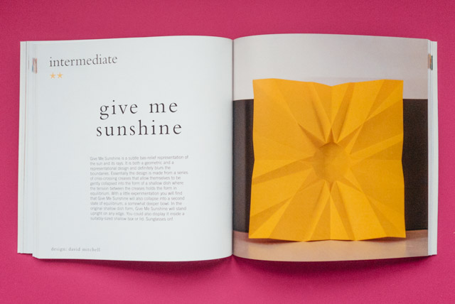 sunshine origami project